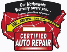 Certified Auto Repair Worry-Free Nationwide Warranty